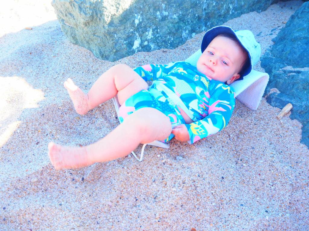 Le transat en éponge tout terrain de voyage avec bébé