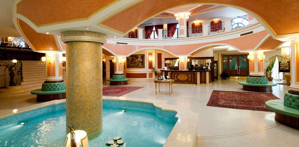 Lobby de l'hôtel Parco Dei Principi où nous avons logé nos invités