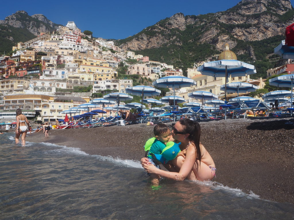 "La fameuse ""Spiaggia Grande"" de Positano"