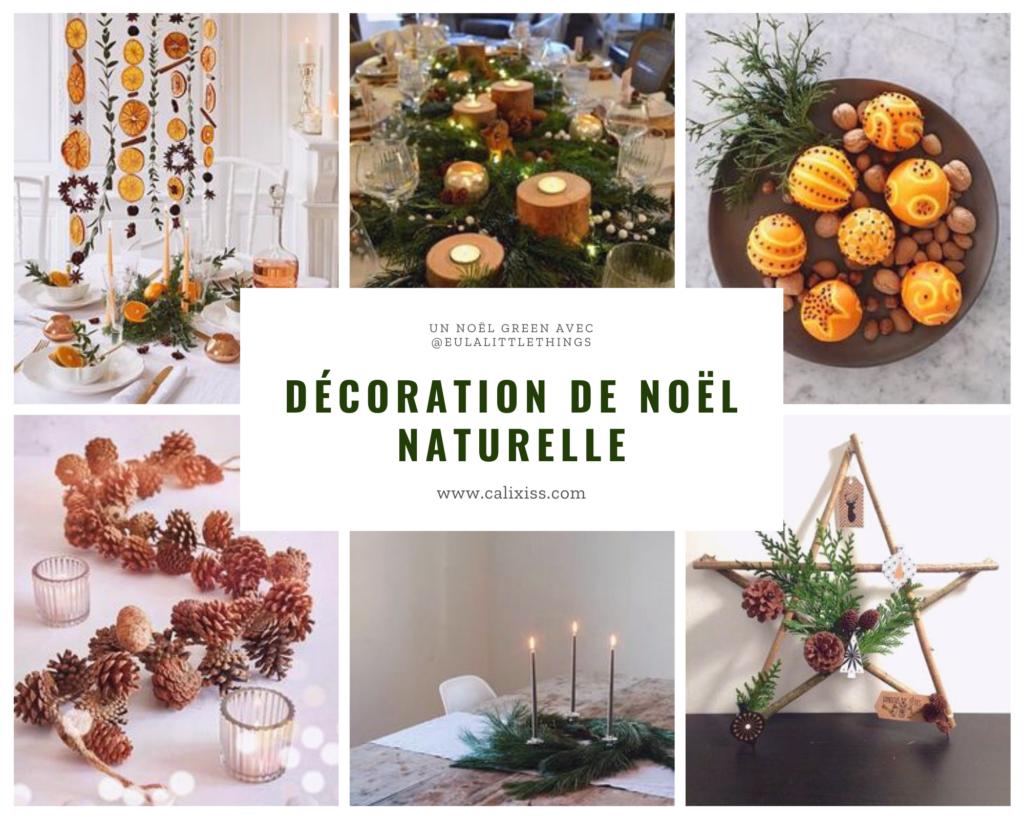 Idées de décoration de Noël issus de la nature, biodégradable et seconde main